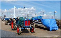 NZ6025 : Tractor on the Esplanade at Redcar by Mat Fascione
