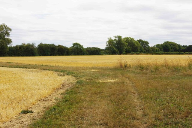 Public footpath turning east, near Bampton, Oxon