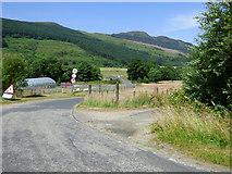 NR9984 : Minor road in Glendaruel by Thomas Nugent