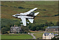 NT2624 : A low flying RAF Tornado passing Kirkstead in the Scottish Borders by Walter Baxter