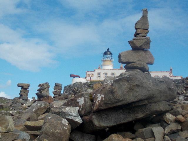 Neist Point: rock sculptures on the headland