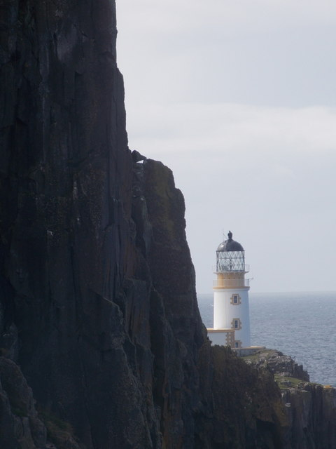 Neist Point: the lighthouse is dwarfed