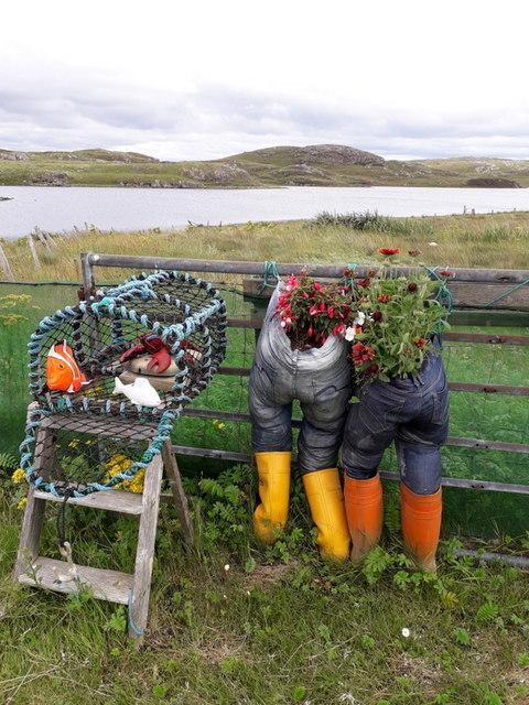 Great Bernera: gardening is in the jeans