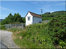 NS0281 : Telephone exchange by the B836 by Thomas Nugent