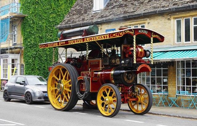 "Burrells Showmans Road Locomotive ""The Busy Bee"" (1), Bridge Street, Bampton, Oxon"