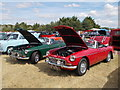 TF1207 : MGB sports cars at the Maxey Classic Car Show, August 2018 by Paul Bryan