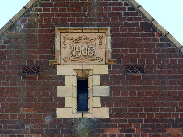 Methodist Church, Burton Road, Ashby-de-la-Zouch – datestone