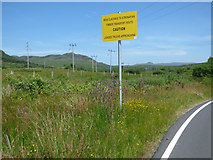 NS0281 : Caution sign by the B836 road by Thomas Nugent