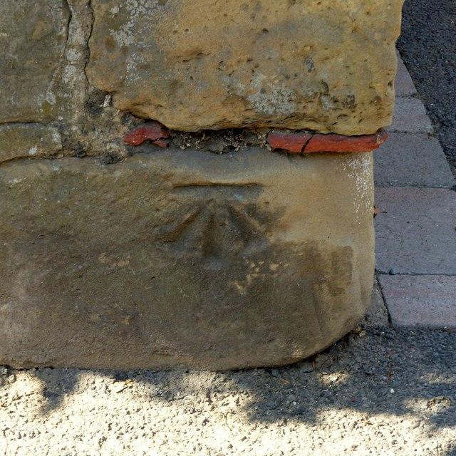 Bench mark, 65 Wood Street, Ashby-de-la-Zouch