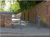 SK3616 : Walk along the north side of St Helen's churchyard, Ashby-de-la-Zouch by Alan Murray-Rust