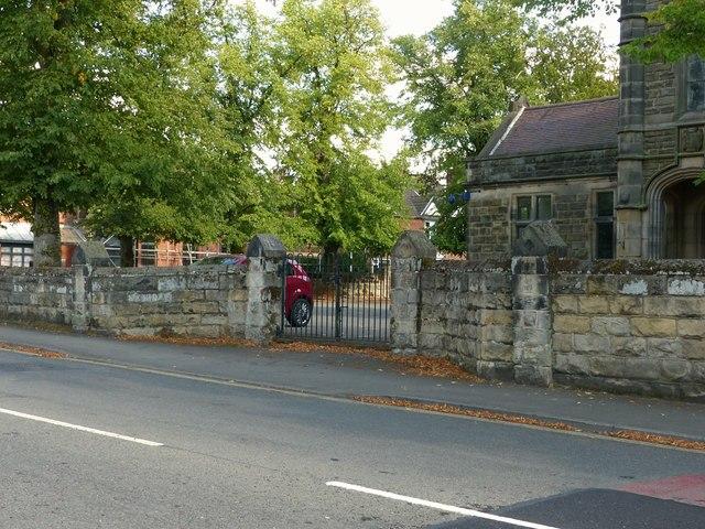 Entrance to the former Boys' Grammar School, Leicester Road, Ashby-de-la-Zouch