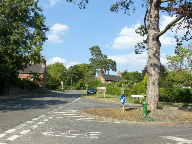 Junction of Stanton Hill (A514) and Melbourne Lane, Ticknall