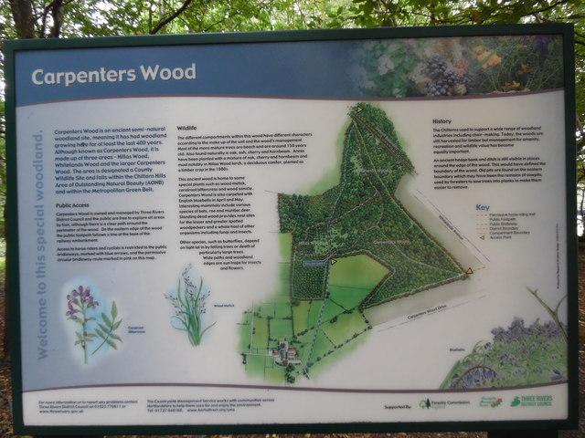 Information Board at Carpenters Wood