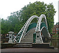 TL0549 : Bedford : Pedestrian suspension bridge, Bedford (1888) by Julian Osley