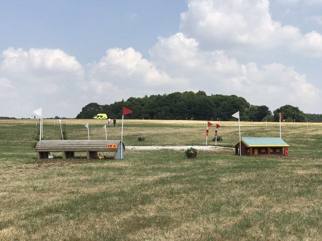 Cross-country fences at Stafford Horse Trials