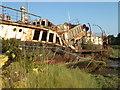 SZ5091 : Collapsing Ship - Island Harbour by Chris Allen