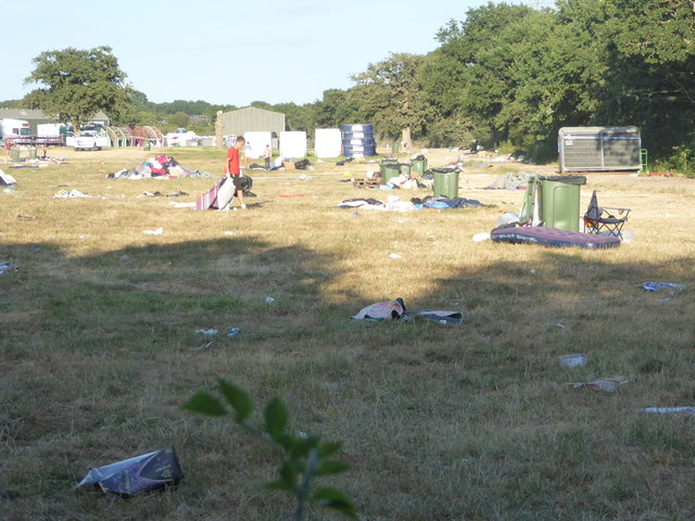 Cleaning up after the Isle of Wight Festival