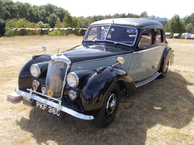 1954 Riley RME at the Maxey Classic Car Show, August 2018