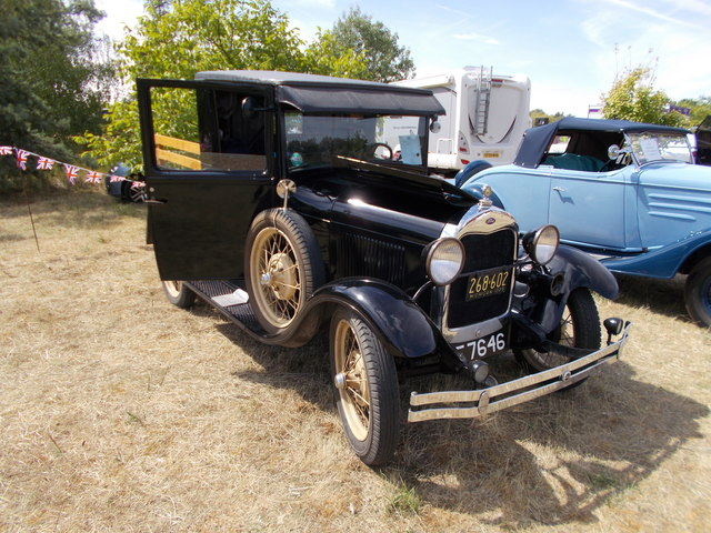 1929 Ford Model A at the Maxey Classic Car Show, August 2018
