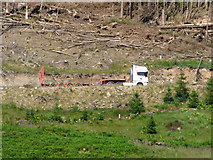 NS1082 : Log lorry in Clachaig Forest by Thomas Nugent