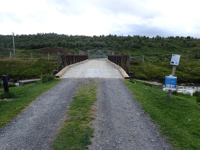 Bridge and Gate across the Halladale River