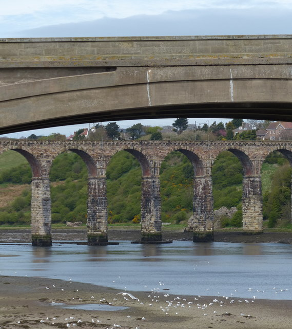 Two bridges across the River Tweed