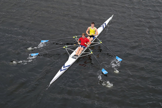 Rowing on the River Tweed
