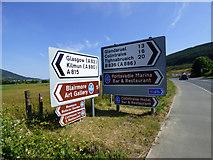 NS1482 : Road signs at Dalinlongart by Thomas Nugent