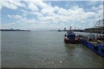 SJ3290 : Woodside pier by DS Pugh