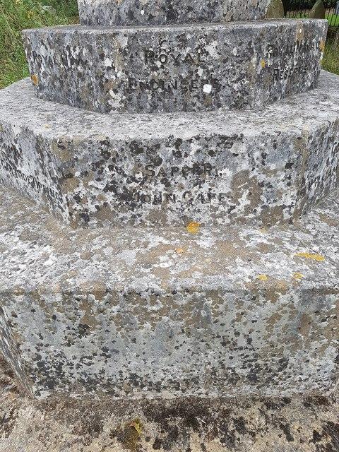 Names of the fallen of the Geldeston war memorial - 4