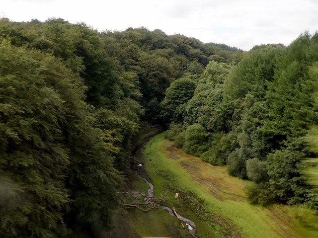 A view from a railway viaduct