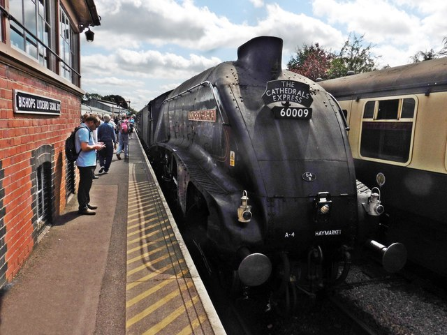 A4 'Union of South Africa' arrives at Bishops Lydeard