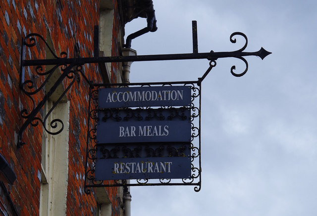 The New Inn Hotel (2) - sign, Market Square, Lechlade-on-Thames, Glos