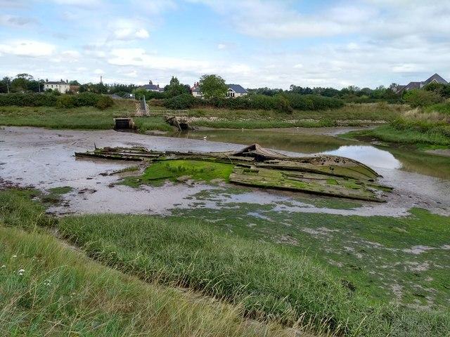 Wreck by Spickets Brook Sluice