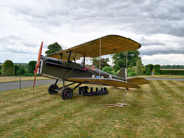 World War I Fighter Plane at Brodsworth Hall