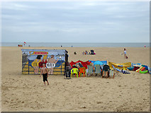 TG5307 : Beach equipment hire, Great Yarmouth by Robin Webster