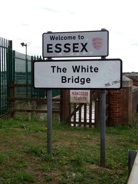 The White Bridge sign