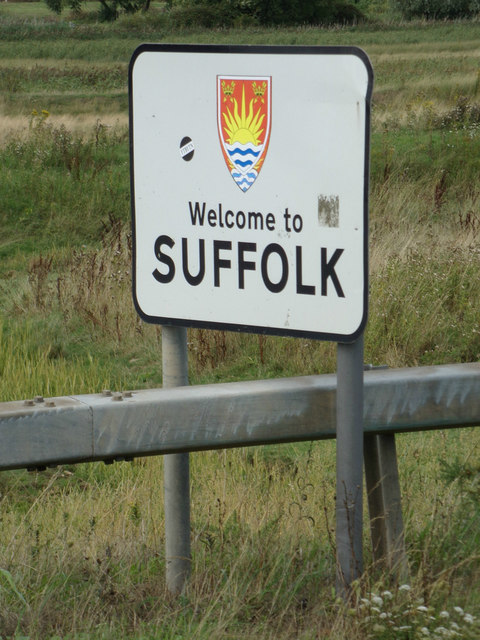 Welcome to Suffolk sign