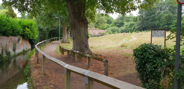 Stream and community orchard, Wendover