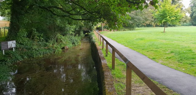 Stream, path and park in Wendover