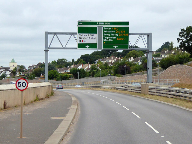 Overhead Sign Gantry on the South Devon Highway