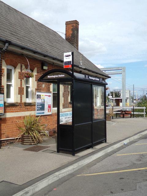 Bus Shelter at Manningtree Railway Station