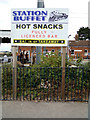 TM0932 : Station Buffet sign at Manningtree Railway Station by Adrian Cable