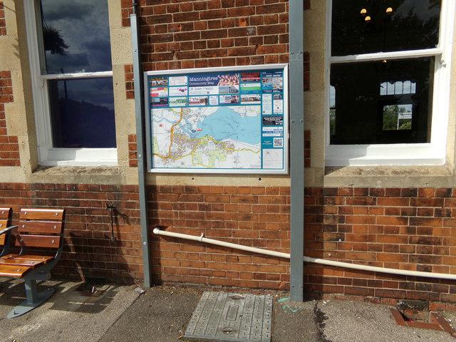 Manningtree Map at Manningtree Railway Station