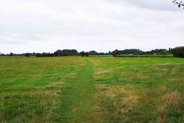 Public footpath across field, near to Lechlade-on-Thames, Glos