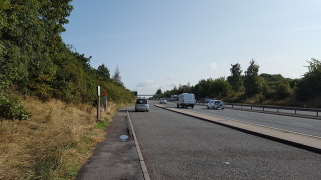 Lay-by on the A46