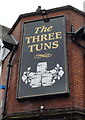 NZ2660 : Sign on the Three Tuns public house, Gateshead by JThomas