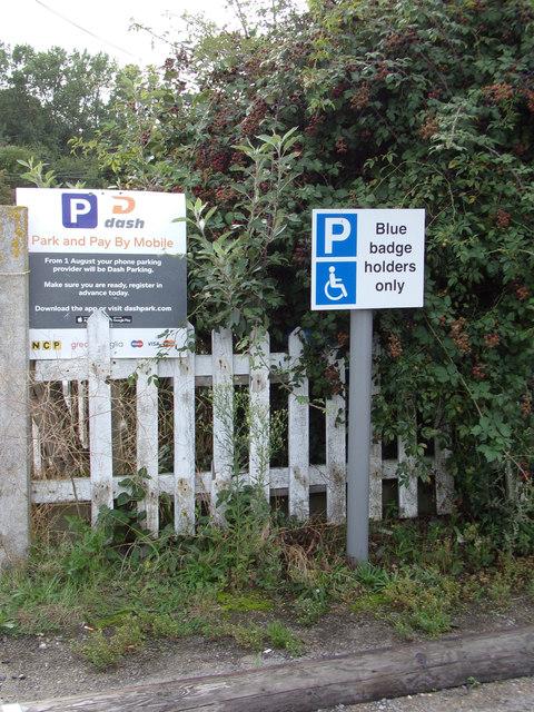 Disabled Parking sign & Car Park sign