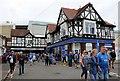SZ6699 : Fans leaving Fratton Park in Frogmore Road by Steve Daniels