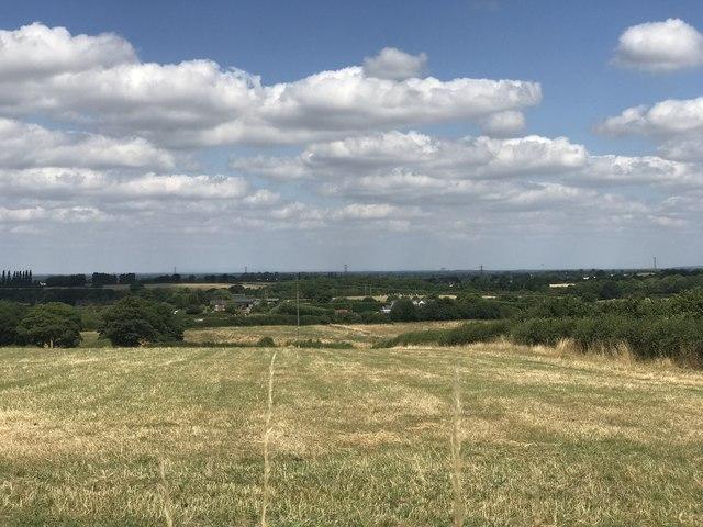 Town Fields from Castle Hill